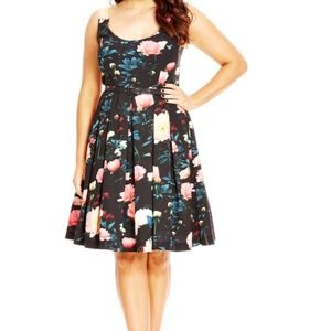 City Chic Floral Delight Dress